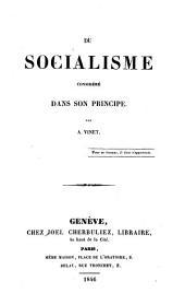 Du socialisme considéré dans son principe