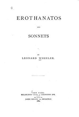 Erothanatos and Sonnets