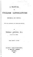 A Manual of English Literature  Historical and Critical PDF