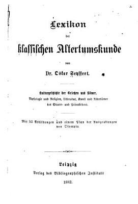 Lexikon der klassischen Altertumskunde PDF