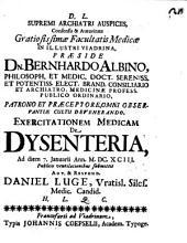 Exercitatio med. de dysenteria