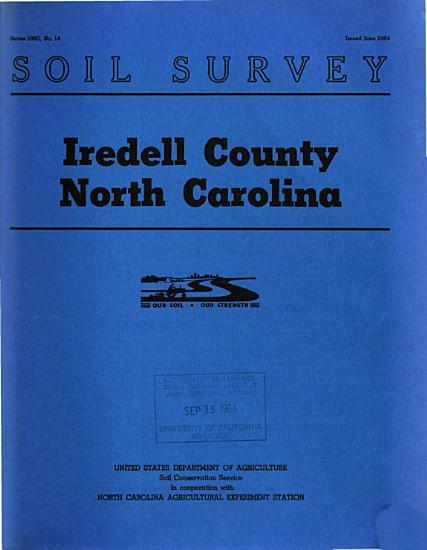 Soil Survey  Iredell County  North Carolina PDF