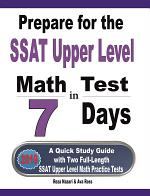 Prepare for the SSAT Upper Level Math Test in 7 Days