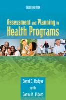 Assessment and Planning in Health Programs PDF