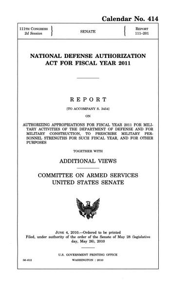 National Defense Authorization Act for Fiscal Year 2011 PDF