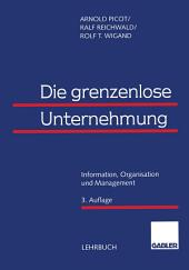 Die grenzenlose Unternehmung: Information, Organisation und Management Lehrbuch zur Unternehmensführung im Informationszeitalter, Ausgabe 3