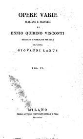 Opere varie, italiane e francesi: Volume4