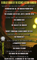10 Greate Books of the Science Fiction Founders  illustrated  PDF