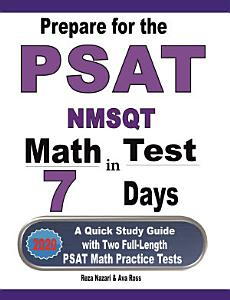 Prepare for the PSAT   NMSQT Math Test in 7 Days Book
