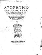 Apophthegmata