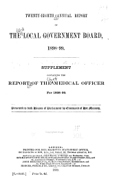 Report of the Medical Officer: Volume 28