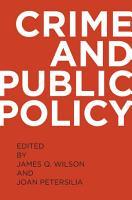 Crime and Public Policy PDF