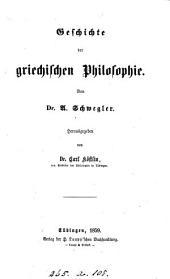 Geschichte der griechischen Philosophie, herausg. von C. Köstlin