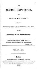 The Jewish Expositor and Friend of Israel PDF