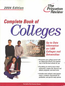 Complete Book of Colleges 2004 PDF