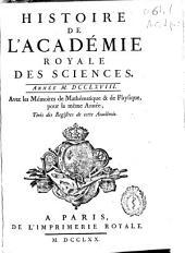 Histoire de l'Academie Royale des Sciences: année MDCCLXVIII, avec les mémoires de mathématique [et] de physique, pour la même année, tirés des registres de cette Académie