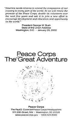 Peace Corps  the Great Adventure PDF