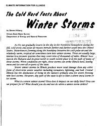 The Cold Hard Facts about Winter Storms