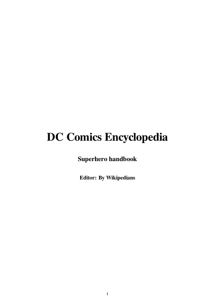 DC Comics Encyclopedia PDF