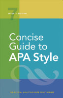 Concise Guide to APA Style Book