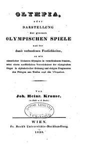 Olympia, oder, Darstellung der grossen olympischen Spiele: und der damit verbundenen Festlichkeiten ...