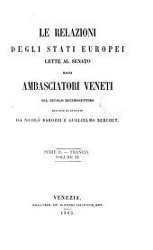 Relazioni degli stati europei lette al Senato dagli ambasciatori veneti nel secolo decimosettimo, racolte ed annotate da N. Barozzi e G. Berchet