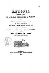 Memoria que comprende el resumen de los trabajos verificados en el año de 1851 por las diferentes secciones encargadas de formar el mapa geologico de la provincia de Madrid y el general del reino : presentada el 4 de marzo de 1852 ...