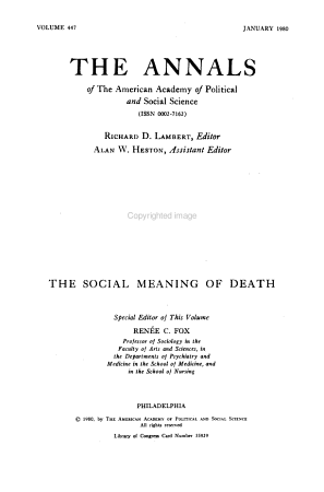 The Social Meaning of Death PDF