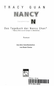 Das Tagebuch der Nancy Chan  PDF