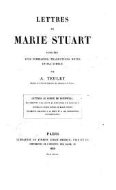 Lettres de Marie Stuart