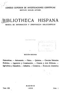 Bibliotheca Hispana  Revista de Informaci  n y Orientaci  n Bibliogr  ficas  Secci  n 2 PDF