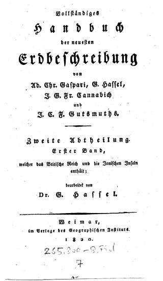 Zweite Abtheilung  Erster Band  welcher das Britische Reich und die Jonischen Inseln enth  lt PDF