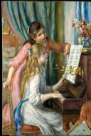 Two Young Girls at Piano - Renoir 1892 Journal