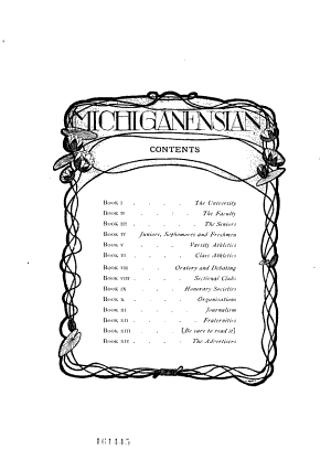 The Michiganensian  a Year Book   pub  by the Senior Classes of the University of Michigan PDF