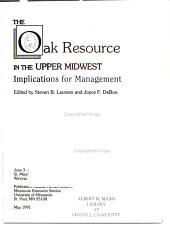 The Oak Resource in the Upper Midwest PDF