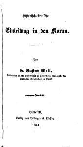 Historisch-kritische Einleitung in den Koran