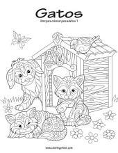 Gatos libro para colorear para adultos 1