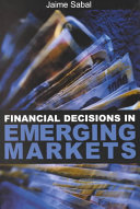 Financial Decisions in Emerging Markets PDF