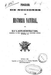 Programa de nociones de historia natural