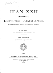 Jean XXII (1316-1334); Lettres communes analysées d'Après les registres dits d'Avignon et du Vatican: Volume3