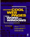 Creating Cool Web Pages with Word for Windows 95