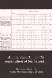 Annual Report ... on the Registration of Births and Deaths, Marriages and Divorces in Michigan ...: Volume 12
