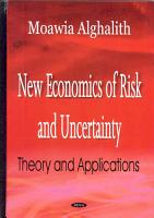 New Economics of Risk and Uncertainty PDF