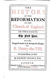 The History of the Reformation of the Church of England: ... By Gilbert Burnet