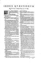 F. Francisci Lycheti Brixiensis, ... In primum, secundum, & tertium Scoti Sententiarum libros, ac in eiusdem Quolibeta commentationes subtilissimae, ... erroribus purgatae, marginibus ditatae, contradictionibus apparentibus in doctrina Scoti cum suis solutionibus auctae, ... Nunc cura, ... ac studio ... Constantii Sarnani S.R.E. cardin. ... pristino candori restitutae, ..: F. Francisci Lycheti Brixiensis, ... In quolibeta Ioannis Scoti, nunc denuo cura, et diligentia illustriss.mi ... Constantij à Sarnano, .., Volume 4