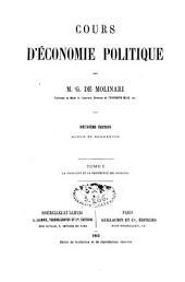 Cours d'économie politique: Volume1