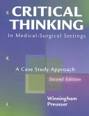 Critical Thinking in Medical surgical Settings PDF