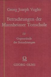 Betrachtungen der Mannheimer Tonschule: Volume 3