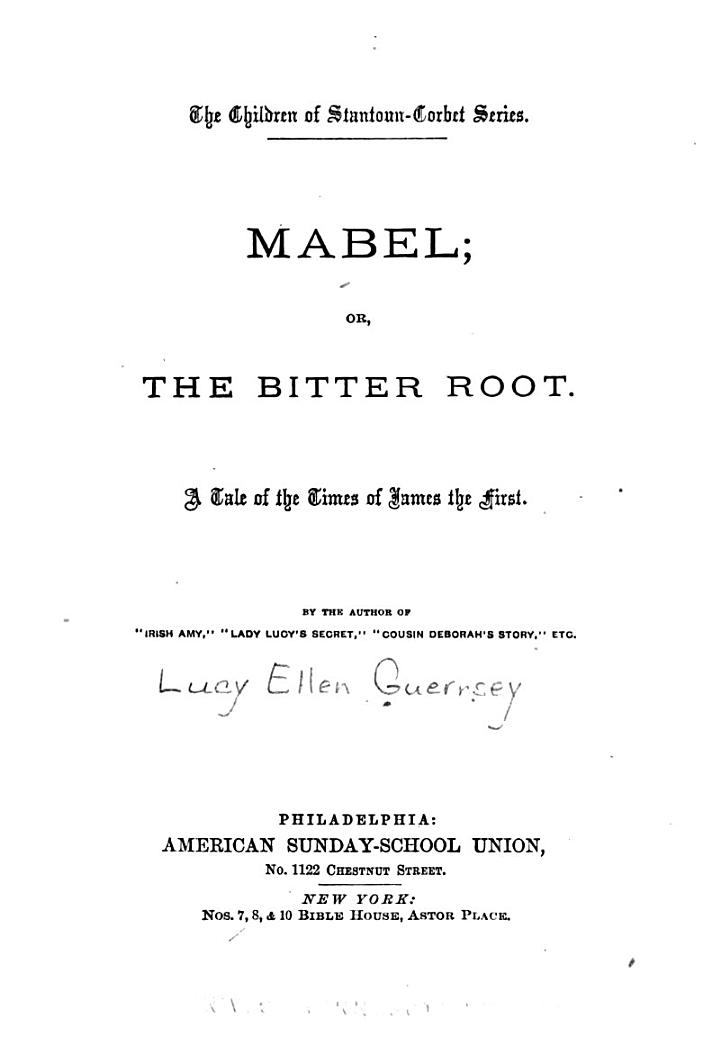 Mabel, Or, The Bitter Root