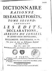 Dictionnaire raisonné des eaux et forêts